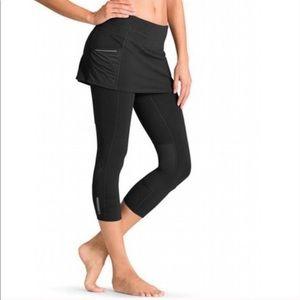 ATHLETA | Black Leggings Skirt running Capris Gym